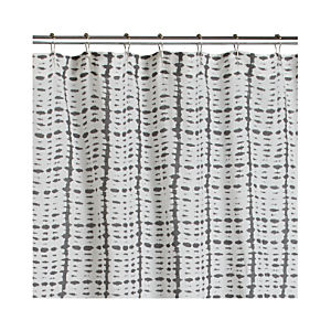 Grey Tie Dye Shower Curtain