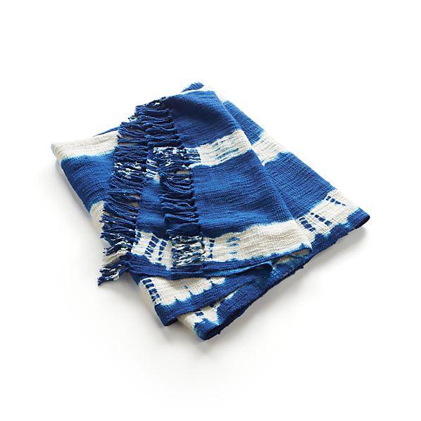 Tie N Dye Blue Throw
