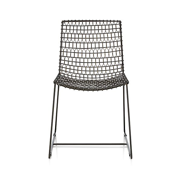 Tig Metal Dining Chair In Dining Chairs Crate And Barrel