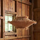 Tiger Raffia Short Pendant Light