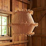 Tiger Raffia Tall Pendant Light