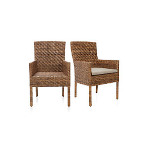 Tigris Arm Chair and Natural Cushion