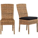 Tigris Side Chair and Black Cushion