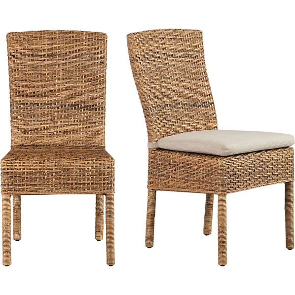 Tigris Side Chair and Natural Cushion