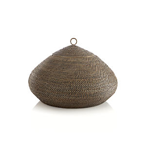 Tikka Round Lidded Basket