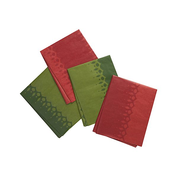 Tonal Green and Red Tissue Paper