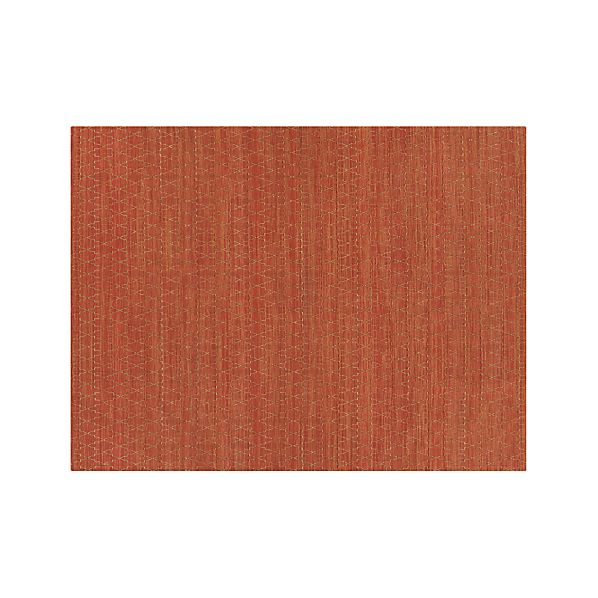 Tochi Coral Orange 9 39 X12 39 Rug Crate And Barrel