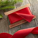Tonal Red Satin Wired Ribbon