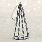 Graphite Glitter Cone Tree Ornament.