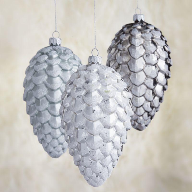 Metallic Pine Cone Ornaments