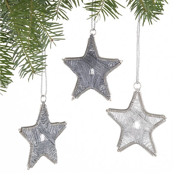 Set of 3 Thread Star Ornaments