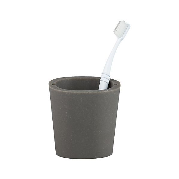 Grey Toothbrush Holder