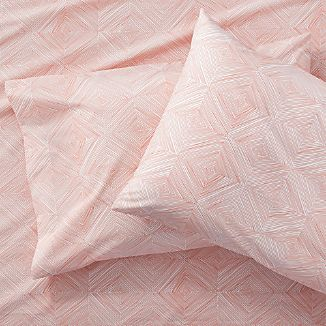 Set of 2 Torben Coral Standard Pillowcases