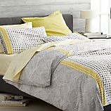 Torben Yellow Full/Queen Duvet Cover
