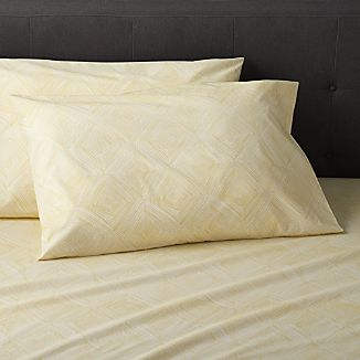 Set of 2 Torben Yellow Standard Pillowcases