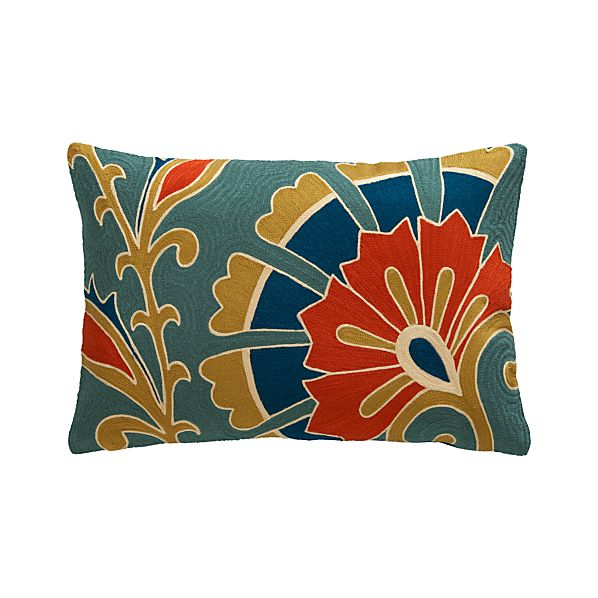 """Tori 18""""x12"""" Pillow with Feather-Down Insert"""