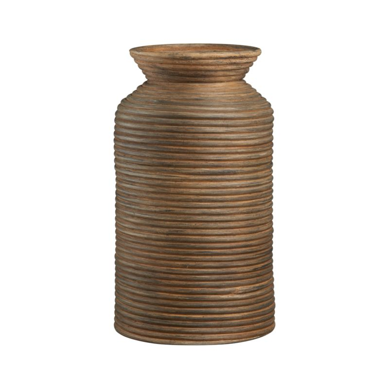 Handmade vase in eco-friendly rattan take beehive inspiration from nature for a rustic, decorative effect.<br /><br /><NEWTAG/><ul><li>100% rattan core</li><li>Clean with a dry cloth</li></ul>