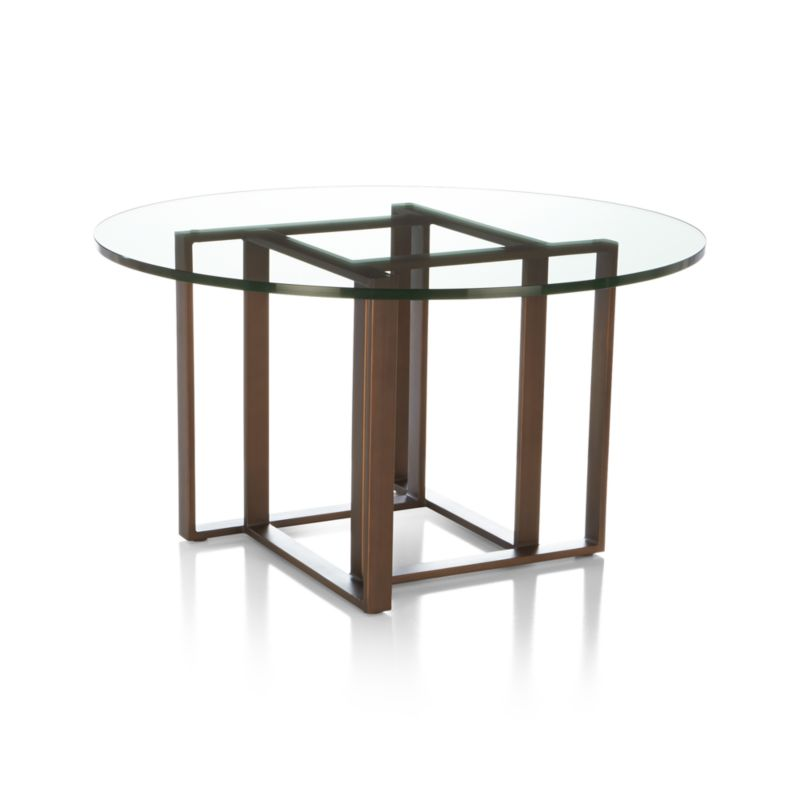 Tory Round Coffee Table In Coffee Tables Side Tables Crate And Barrel