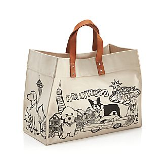 Tote Bag with Doggies