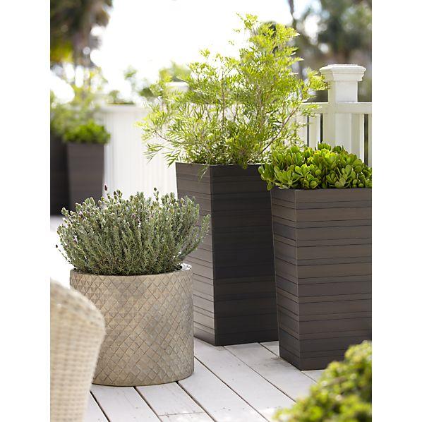 tidore planters crate and barrel. Black Bedroom Furniture Sets. Home Design Ideas