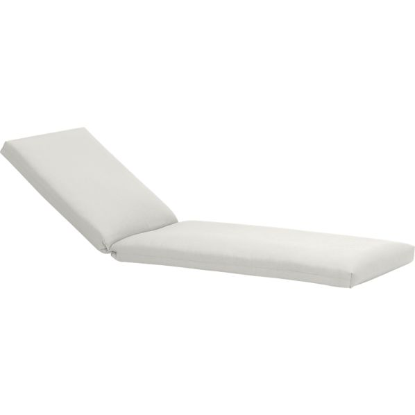 Toulon Sunbrella® White Sand Chaise Lounge Cushion