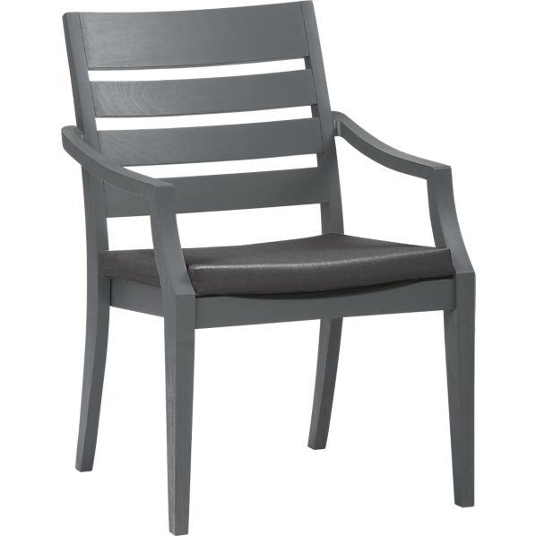 Toulon Dining Chair with Sunbrella® Charcoal Cushion