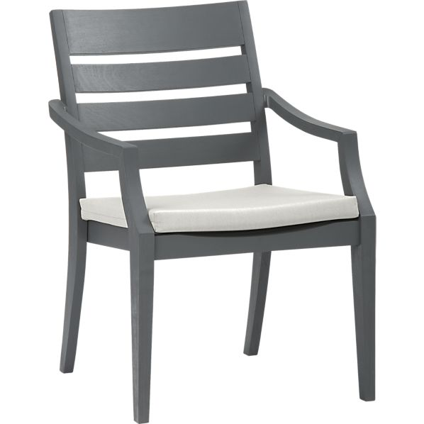 Toulon Dining Chair with Sunbrella ® White Sand Cushion
