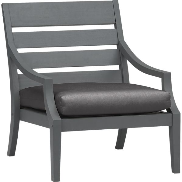 Toulon Lounge Chair with Sunbrella® Charcoal Cushion
