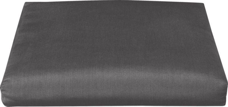 Add extra comfort to our Toulon ottoman with fade-, water- and mildew-resistant Sunbrella® acrylic cushions in chic charcoal.<br /><br /><NEWTAG/><ul><li>Fade- and mildew-resistant Sunbrella® acrylic</li><li>100% polyester fill</li><li>Fabric tab fasteners</li><li>Cover or store inside during inclement weather</li><li>Spot clean</li><li>Made in USA</li></ul>
