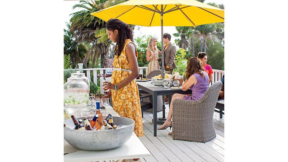 9' Round Sunbrella ® Sulfur Umbrella Canopy