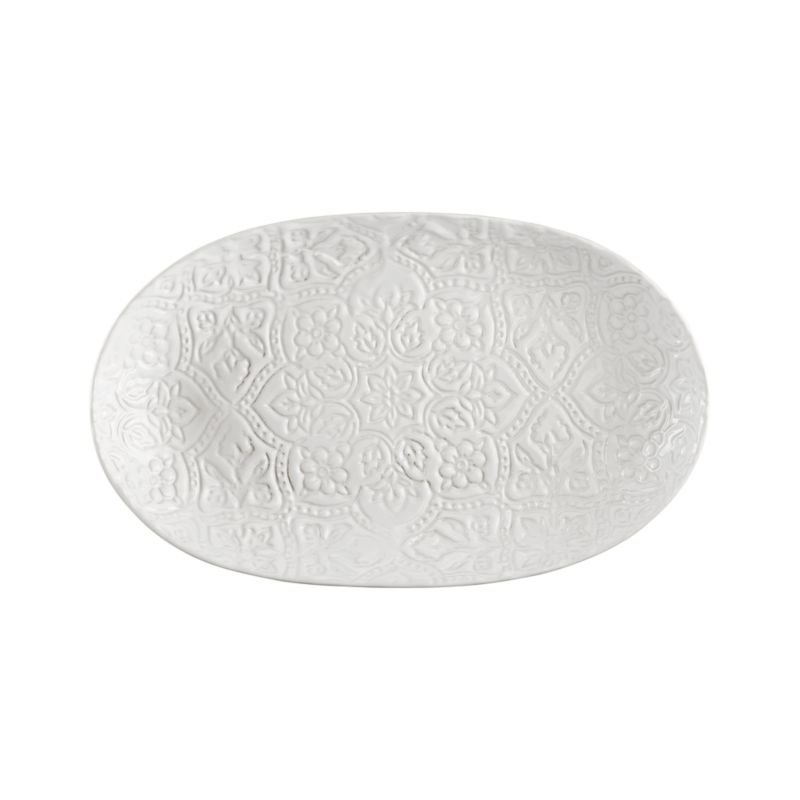 "Toulouse White 16.5""x10"" Platter"