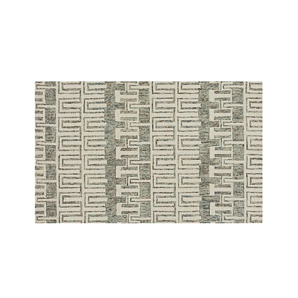 Tower Neutral Wool 5'x8' Rug