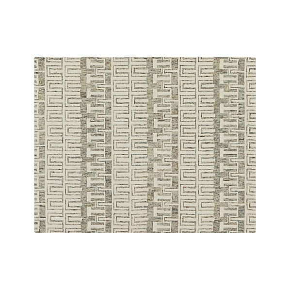Tower Neutral Wool 8'x10' Rug