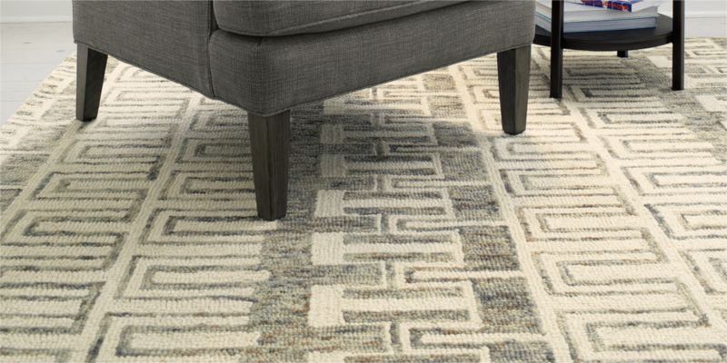 Tower Neutral Wool Rug
