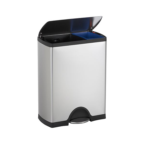 simplehuman® 12-Gallon Stainless Steel Rectangular Recycle-Trash Can