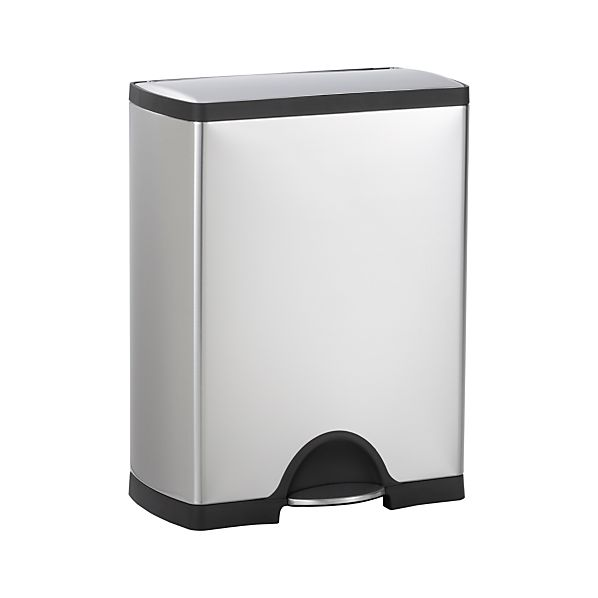 simplehuman® 12-Gallon Recycler Trash Can