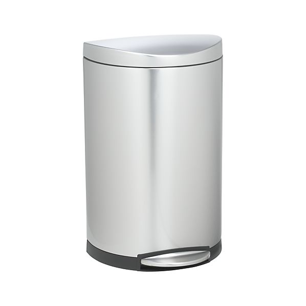simplehuman ® 10.5-Gallon Deluxe Semi-Round Trash Can