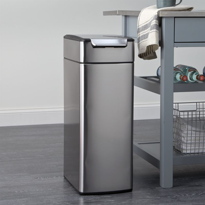 Kitchen Trashcan: Simplehuman ® 10.5-Gallon Slim Touch-Bar Trash Can