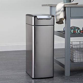 simplehuman® 10.5-Gallon Slim Touch-Bar Trash Can