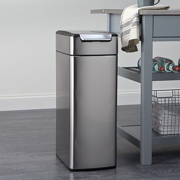 Simplehuman 174 10 5 Gallon Slim Touch Bar Trash Can Crate