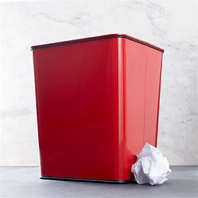 Polder® Red 7-Gallon Trash Can with Bag Band