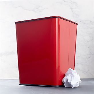 Polder ® Red 7-Gallon Trash Can with Bag Band