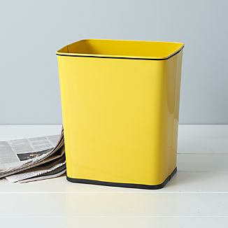 Polder® Yellow 7-Gallon Trash Can with Bag Band