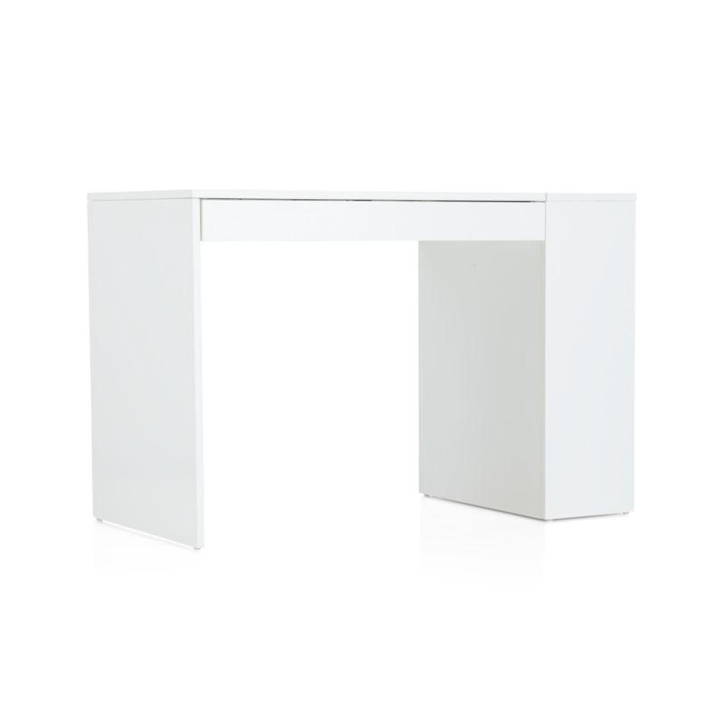 Treble White Desk In Desks Crate And Barrel