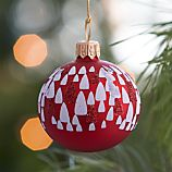 Tree Red Ball Ornament