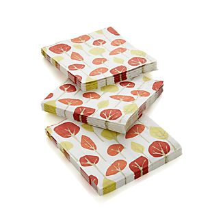 Autumn Trees Beverage Napkins Set of 20