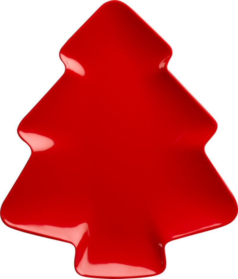 Playfully named serving standout present treats in glossy, tree-shaped red melamine.<br /><br /><NEWTAG/><ul><li>Melamine</li><li>Top-rack dishwasher-safe</li></ul>