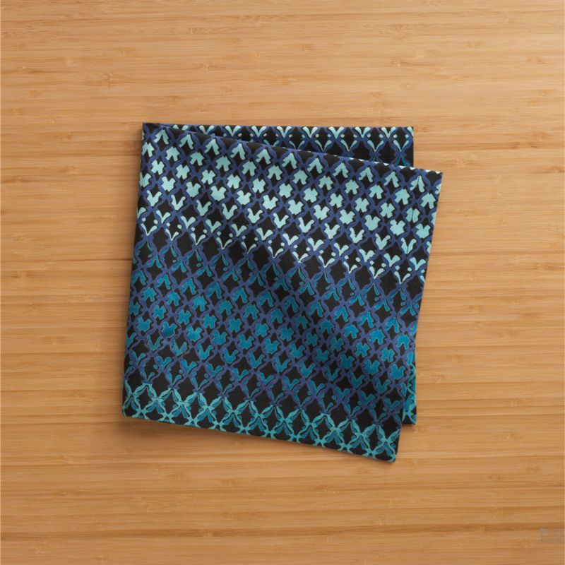 Blue trellis casts tonal shadows in modern, graphic pattern inspired by Indian colonial architecture.<br /><br /><NEWTAG/><ul><li>Cotton</li><li>Machine wash, tumble dry; warm iron as needed</li><li>Made in India</li></ul><br />
