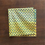 Trellis Yellow Napkin