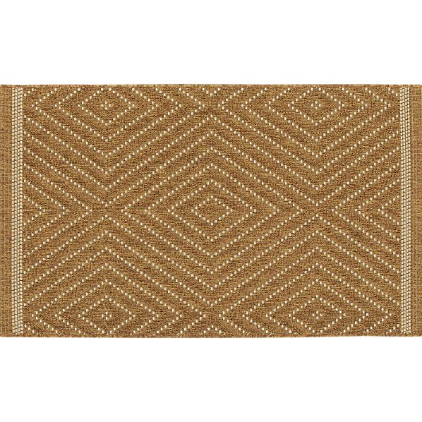 Trellis Natural Indoor-Outdoor 3'x5' Rug